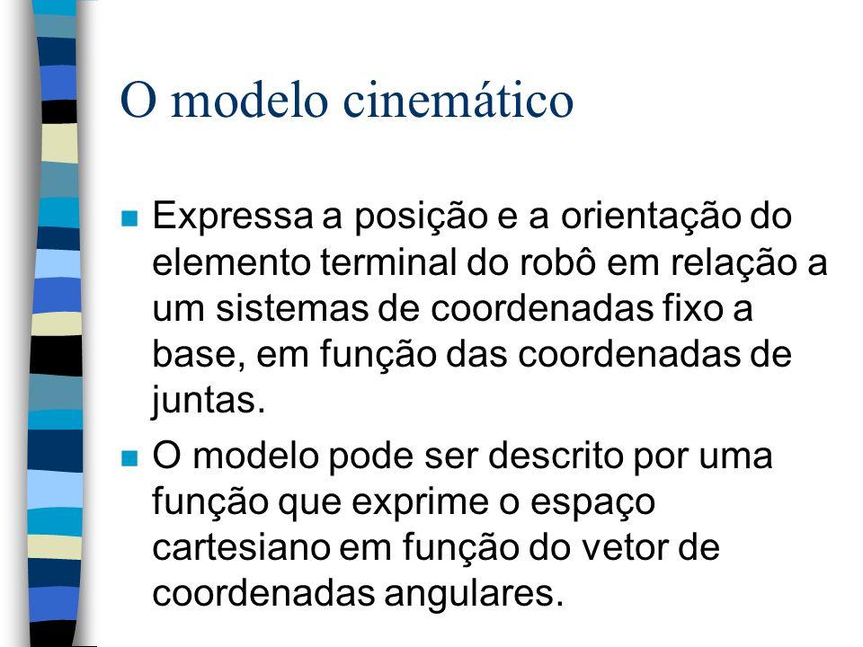 O Modelo cinemático de um manipulador