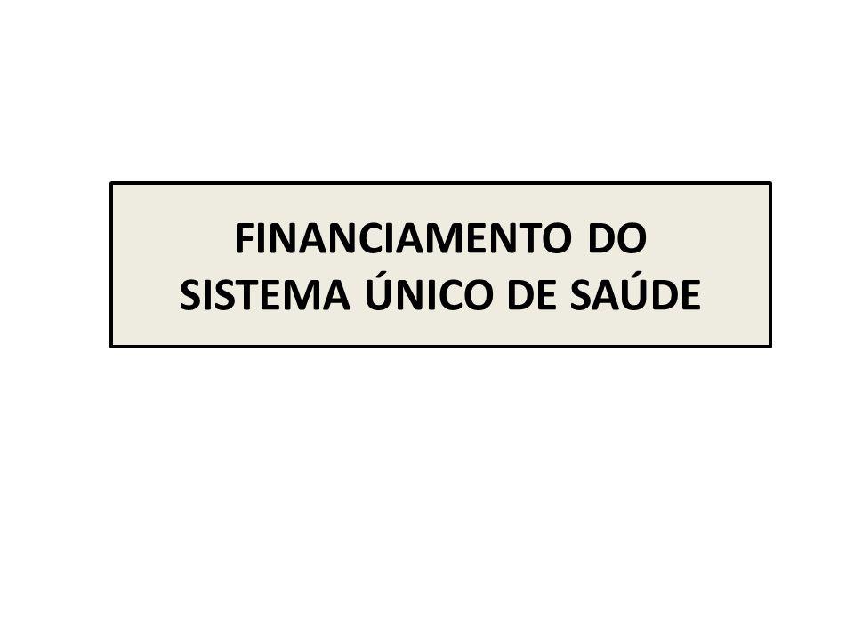 FINANCIAMENTO DO SISTEMA ÚNICO DE SAÚDE