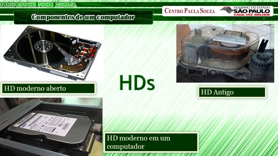 HD moderno aberto HD moderno em um computador HD Antigo