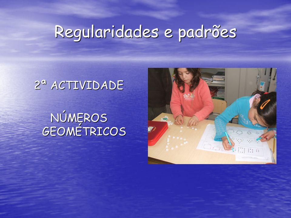 Regularidades e padrões 2ª ACTIVIDADE NÚMEROS GEOMÉTRICOS