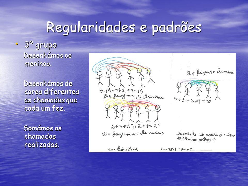 Regularidades e padrões 3º grupo 3º grupo Desenhámos os meninos.