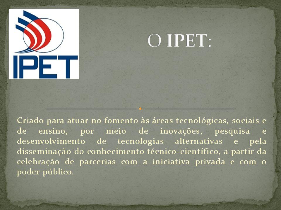 Criado para atuar no fomento às áreas tecnológicas, sociais e de ensino, por meio de inovações, pesquisa e desenvolvimento de tecnologias alternativas