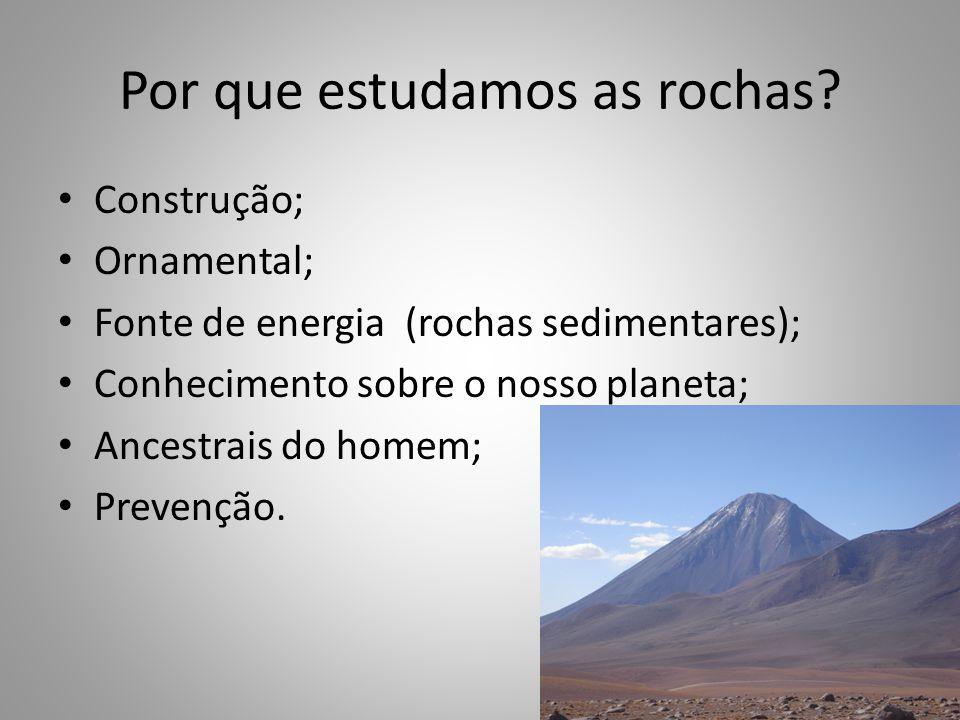 Construção; Ornamental; Fonte de energia (rochas sedimentares); Conhecimento sobre o nosso planeta; Ancestrais do homem; Prevenção.