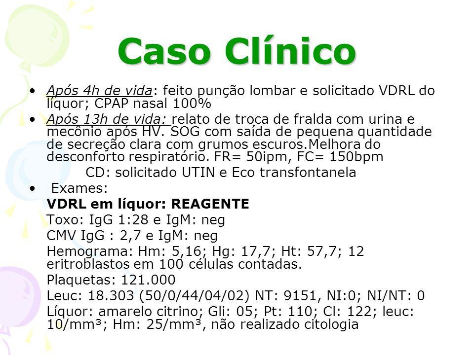 Caso Clínico 22/05/09: Cianótico, ictérico zona I; Fígado 2cm do rebordo costal direito; baço 3cm do rebordo costal esquerdo.