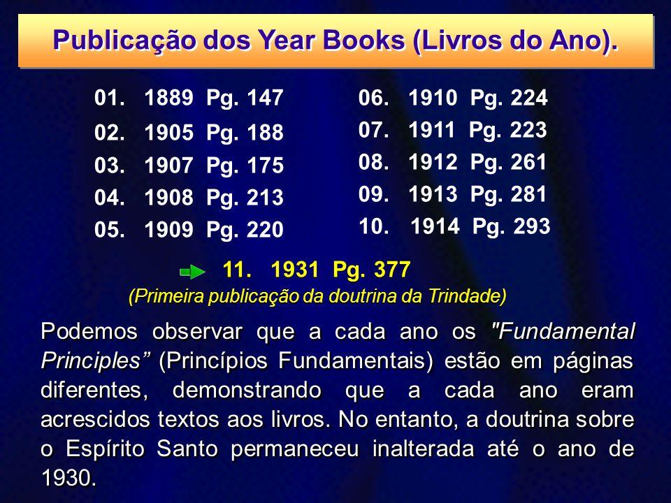 11. 1931 Pg. 377 (Primeira publicação da doutrina da Trindade) 11. 1931 Pg. 377 (Primeira publicação da doutrina da Trindade) 01. 1889 Pg. 147 02. 190