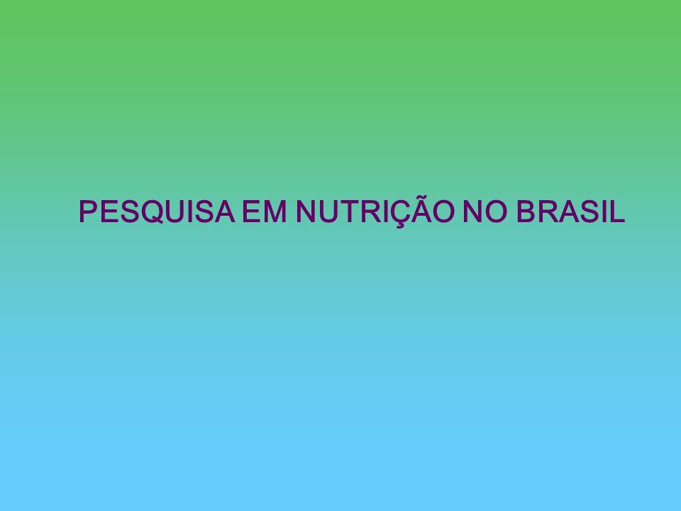 PESQUISA EM NUTRIÇÃO NO BRASIL
