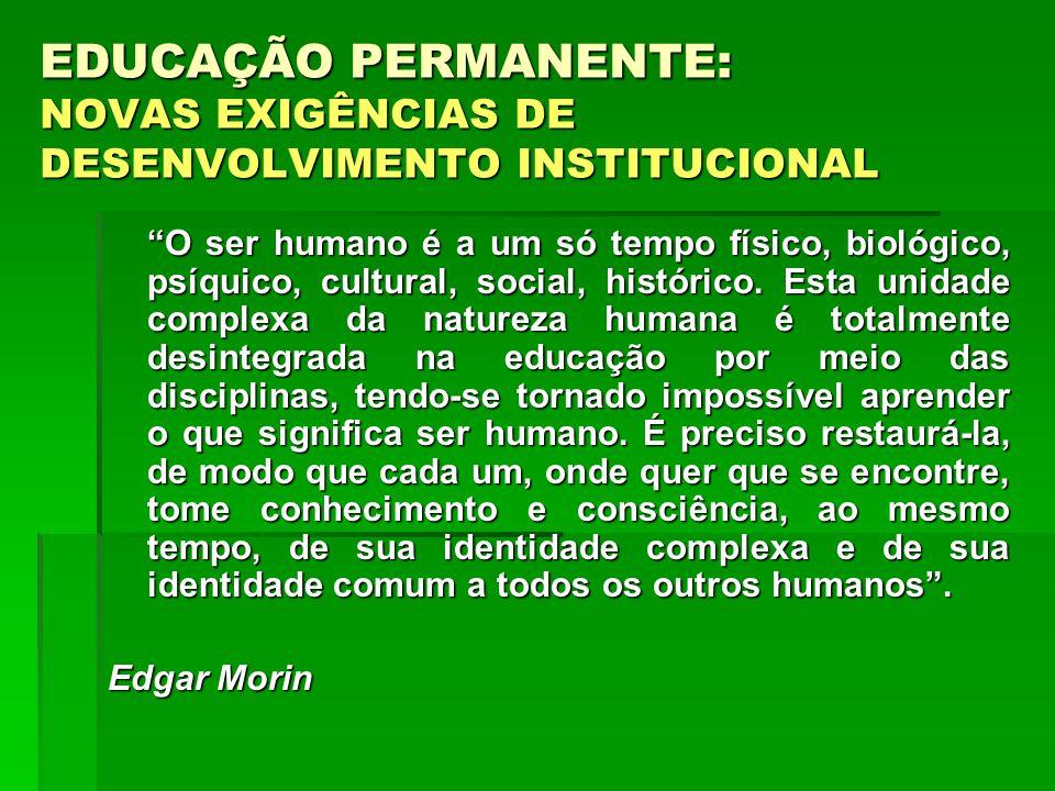 O ser humano é a um só tempo físico, biológico, psíquico, cultural, social, histórico. Esta unidade complexa da natureza humana é totalmente desintegr