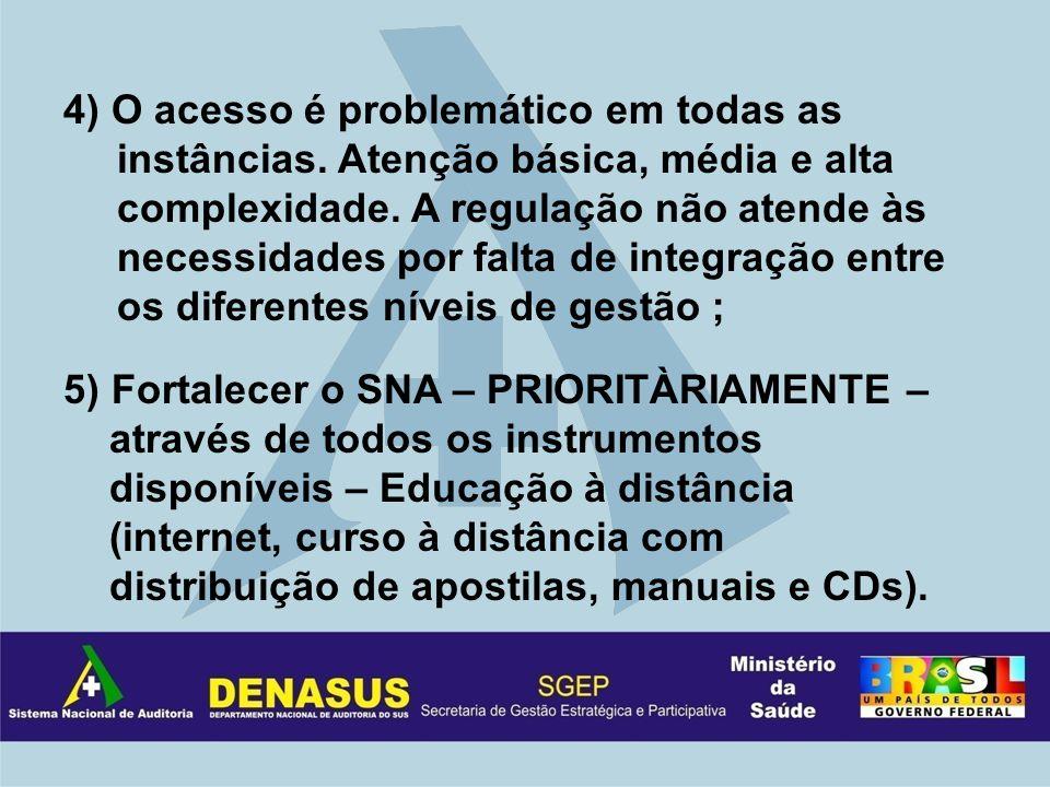 4) O acesso é problemático em todas as instâncias.