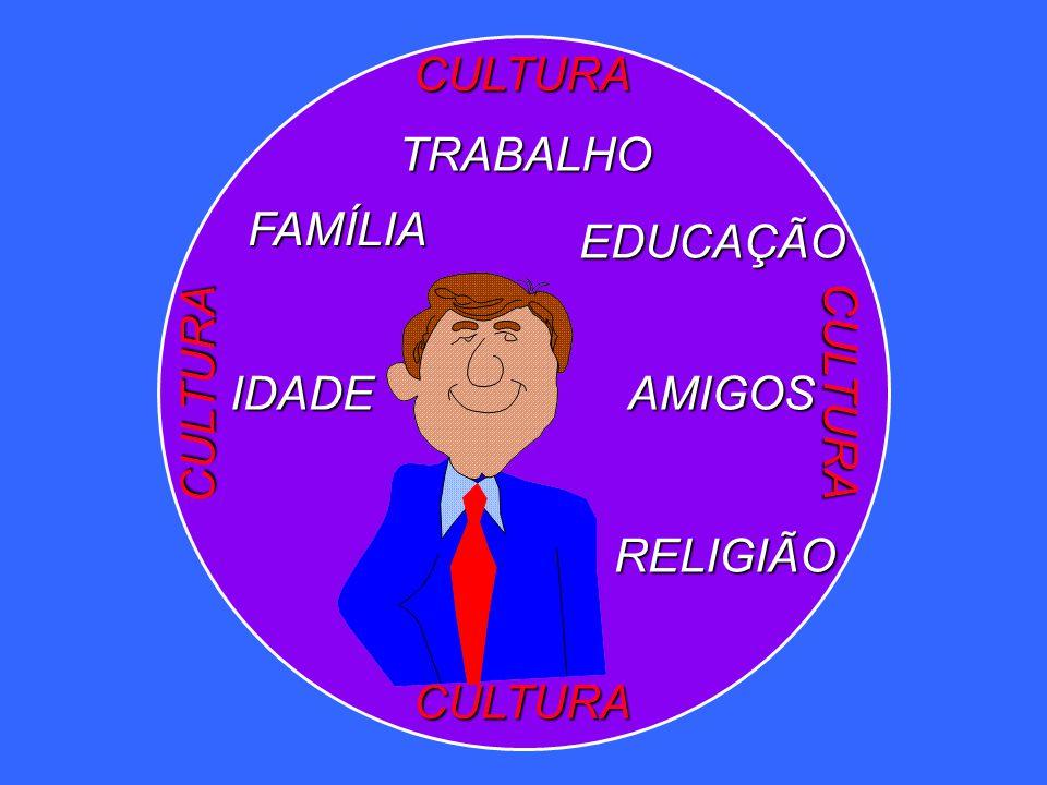 CULTURA CULTURA CULTURA CULTURA AMIGOS TRABALHO FAMÍLIA EDUCAÇÃO IDADE RELIGIÃO