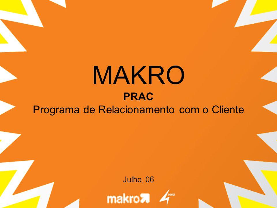 A proposta de comunicação é posicionar o PRAC como um novo produto, criado para atender às necessidades de fidelização do Makro, essenciais para manter e aumentar a participação de mercado.