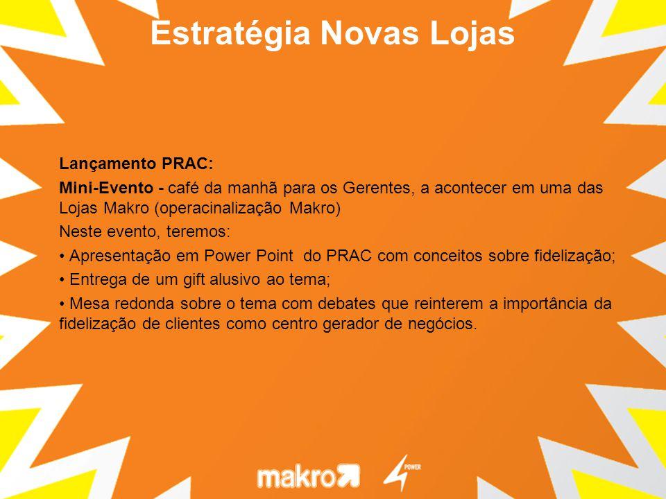 Lançamento PRAC: Mini-Evento - café da manhã para os Gerentes, a acontecer em uma das Lojas Makro (operacinalização Makro) Neste evento, teremos: Apre