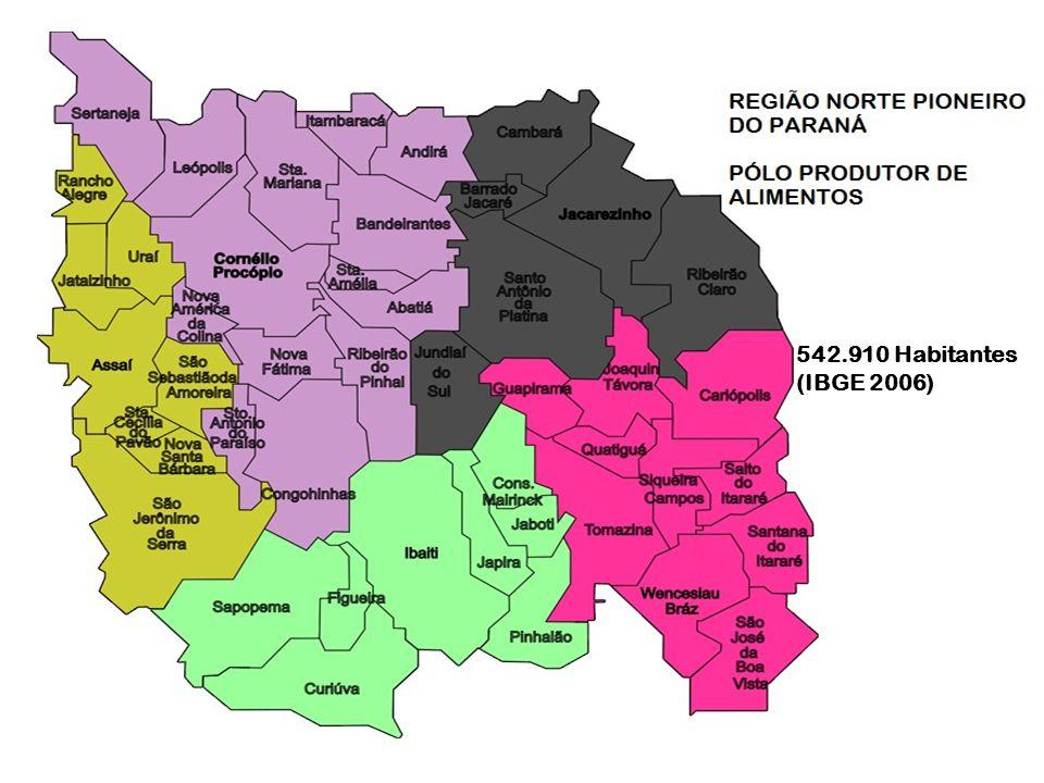 O Norte Pioneiro do Paraná é geograficamente bem localizado para o escoamento da produção de alimentos para o Brasil e o Mundo. São 46 municípios, dos