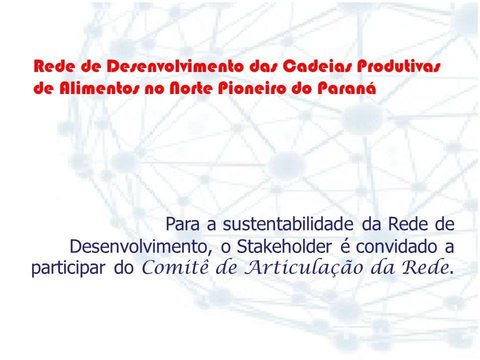 Como cadastrar-se na Rede de Desenvolvimento das Cadeias Produtivas de Alimentos no Norte Pioneiro do Paraná ? Basta acessar o portal da Rede de Desen