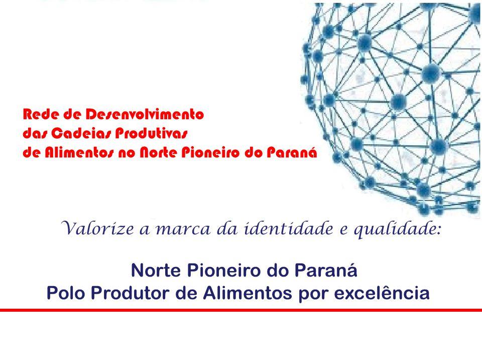 3. E, avaliar os indicadores de desenvolvimento. Rede de Desenvolvimento das Cadeias Produtivas de Alimentos no Norte Pioneiro do Paraná Qual o papel