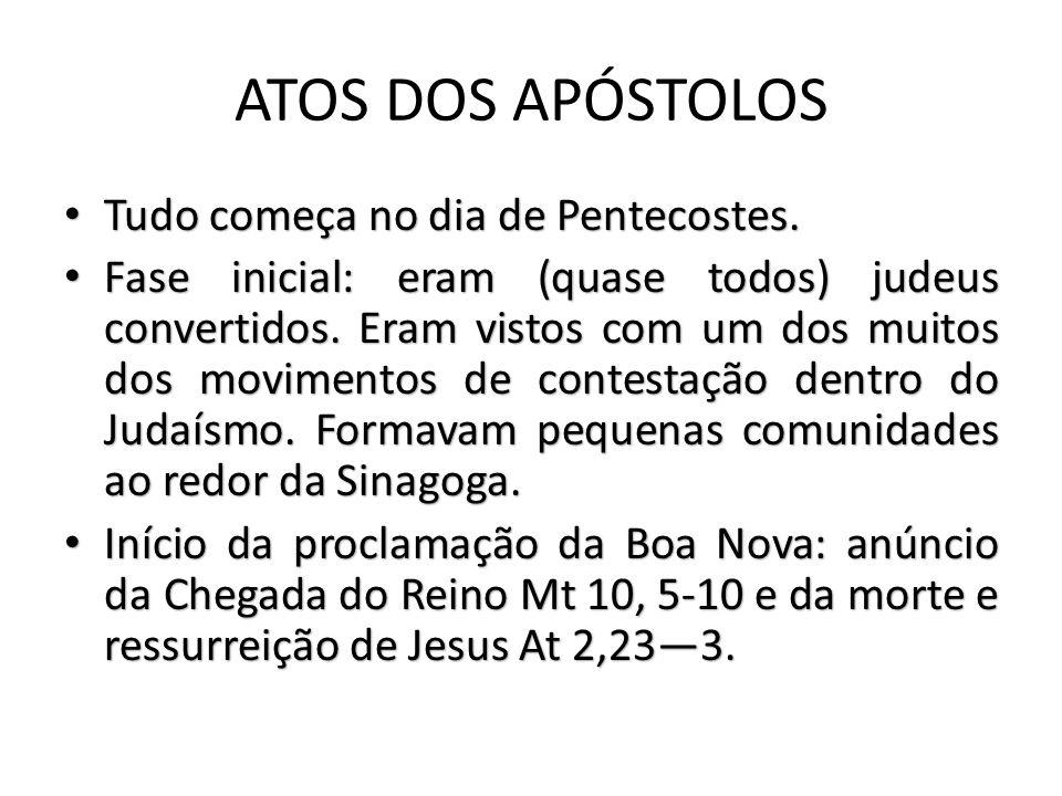 ATOS DOS APÓSTOLOS Tudo começa no dia de Pentecostes.