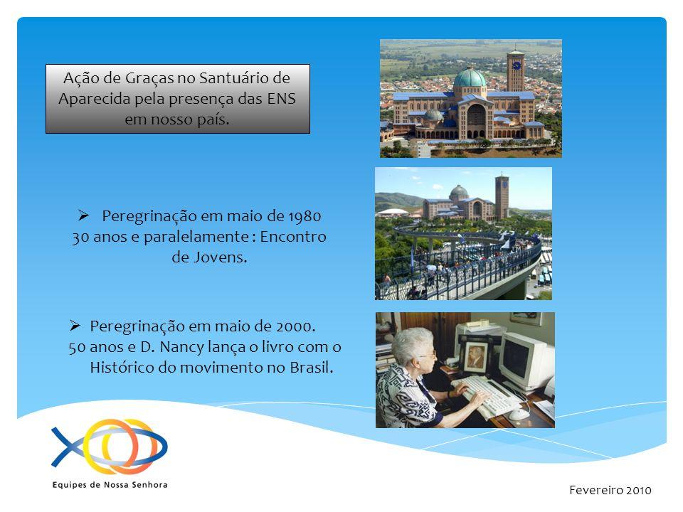 Fevereiro 2010 As ENS no Brasil continuam expandindo-se e hoje somos mais de 2000 equipes espalhadas por todo o território.