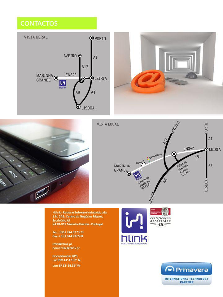 CONTACTOS HLink - Redes e Software Industrial, Lda. E.N. 242, Centro de Negócios Maper, Escritório AJ 2430-011 Marinha Grande - Portugal Tel.: +351 24