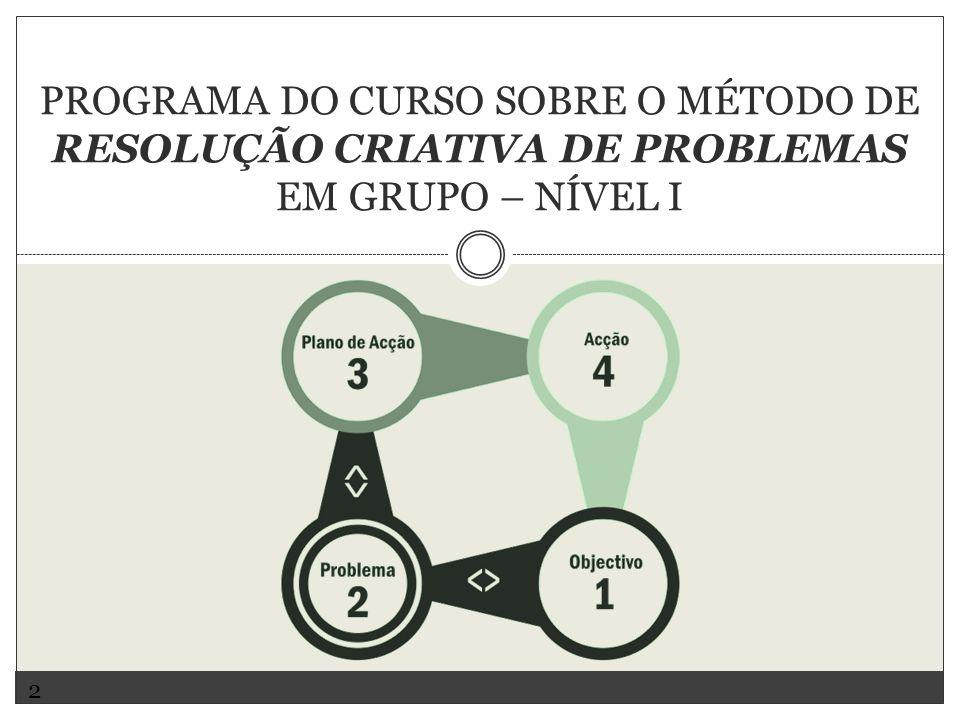 PROGRAMA DO CURSO SOBRE O MÉTODO DE RESOLUÇÃO CRIATIVA DE PROBLEMAS EM GRUPO – NÍVEL I 2