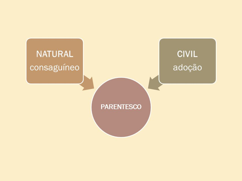 PARENTESCO NATURAL consaguíneo CIVIL adoção