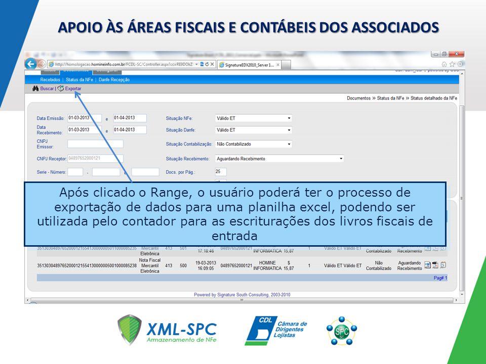 MÓDULO DE STATUS DE RANGE FAROL / EXTRAÇÃO DE DADOS PARA CONTADOR Lembrete: para ativar esse processo o computador deverá ter o Microsoft Excel instalado.