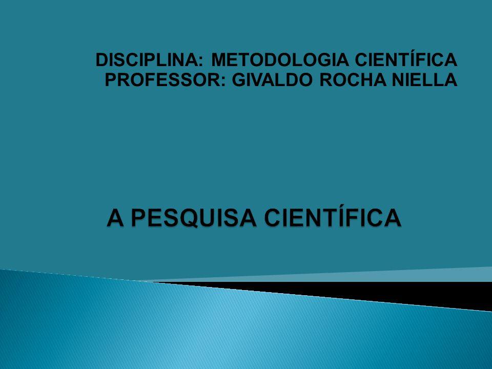2 Prof.Givaldo Rocha Niella 1. ESCOLHA DO TEMA 2.