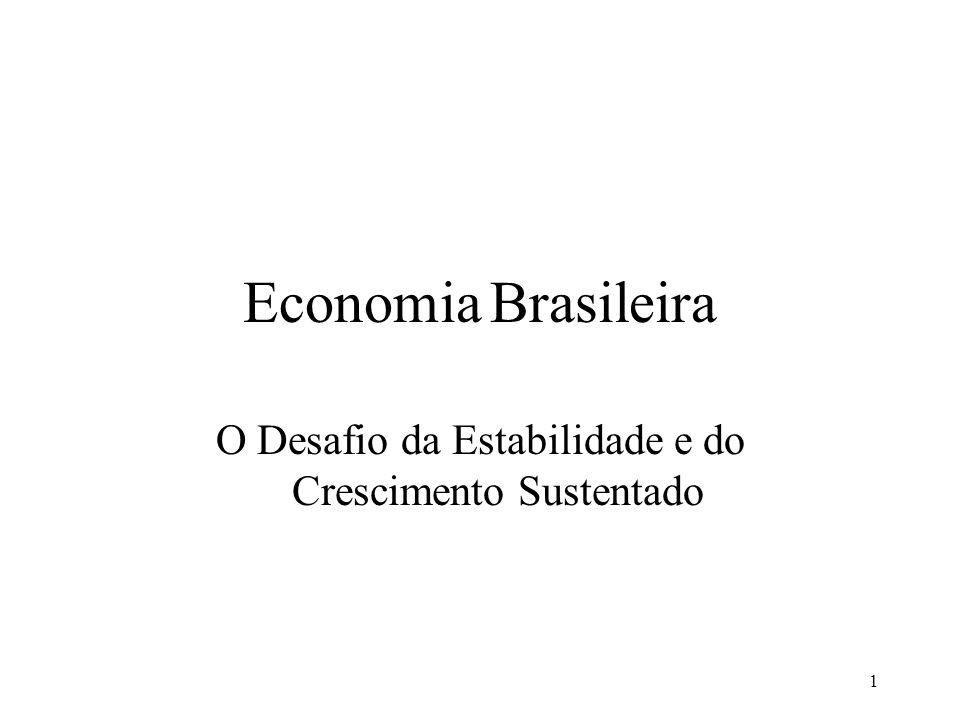 1 Economia Brasileira O Desafio da Estabilidade e do Crescimento Sustentado