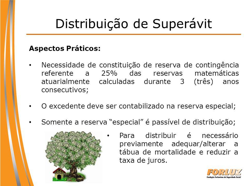 Aspectos Práticos: Necessidade de constituição de reserva de contingência referente a 25% das reservas matemáticas atuarialmente calculadas durante 3