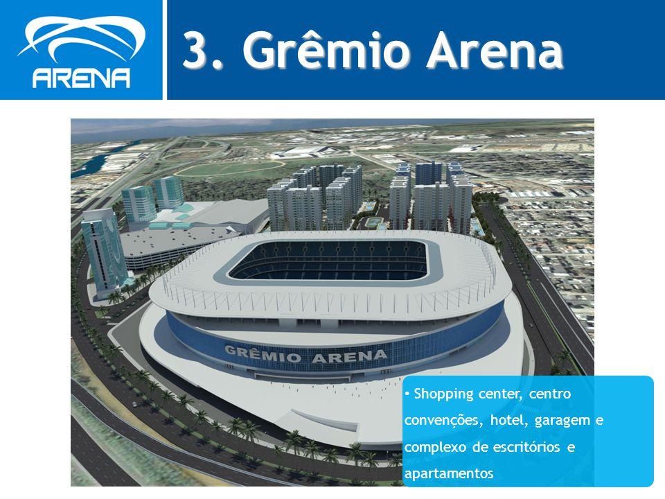 3. Grêmio Arena Shopping center, centro convenções, hotel, garagem e complexo de escritórios e apartamentos