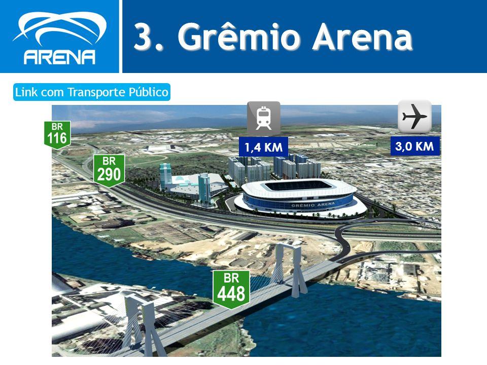 3. Grêmio Arena Link com Transporte Público 3,0 KM 1,4 KM