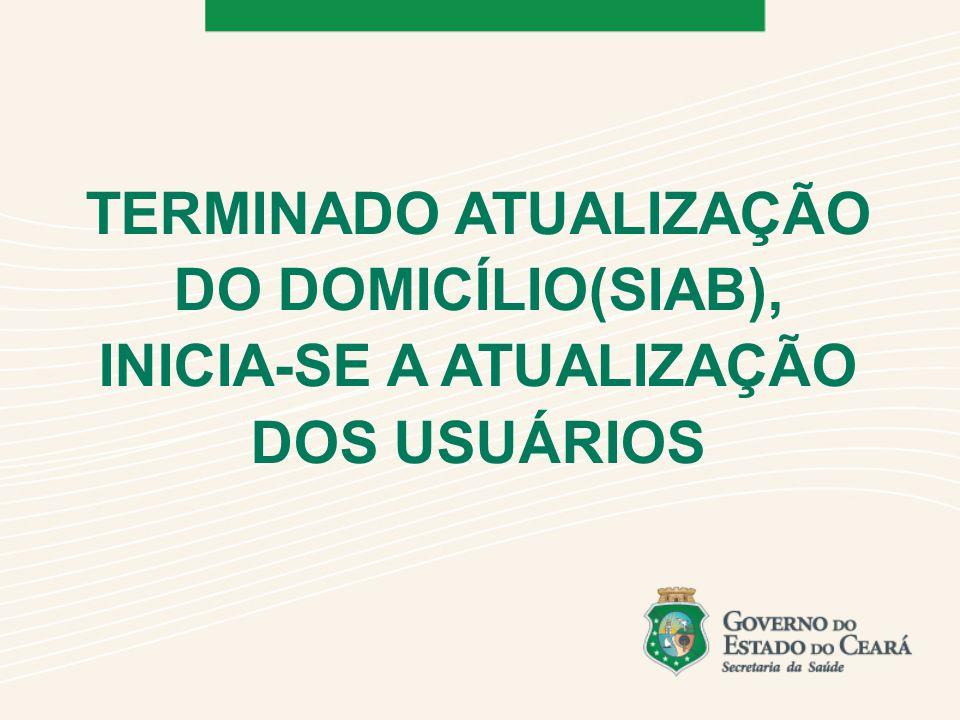 TERMINADO ATUALIZAÇÃO DO DOMICÍLIO(SIAB), INICIA-SE A ATUALIZAÇÃO DOS USUÁRIOS