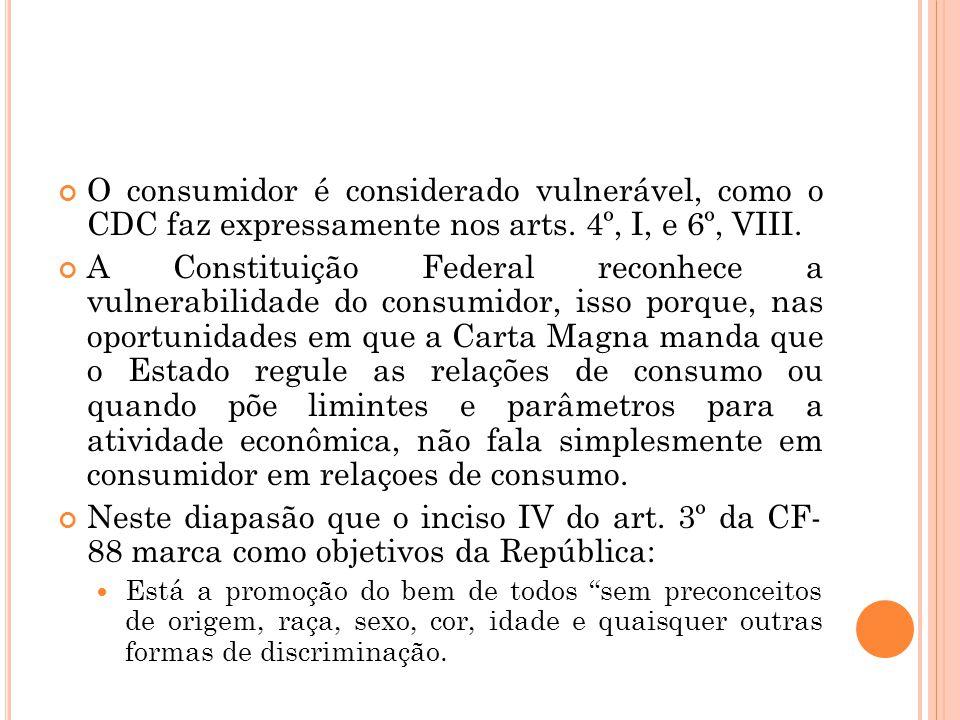 5. Isonomia: A igualdade de todos perante a lei é atribuída pelo preceito constitucional elencado no caput do art. 5º da Carta Magna. O consumidor enc