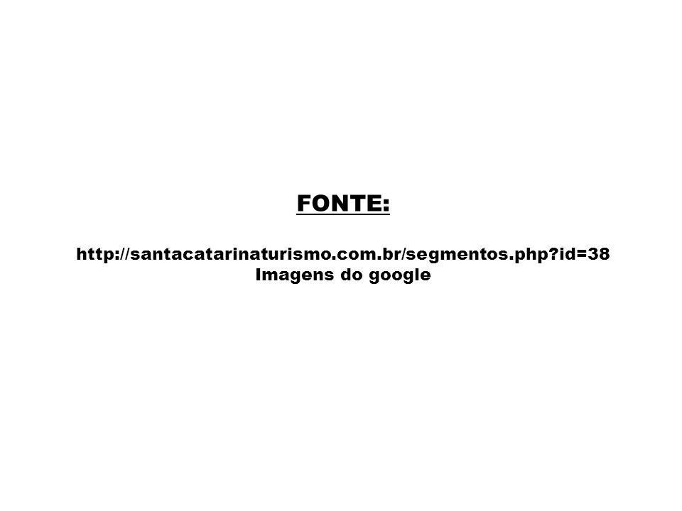 FONTE: http://santacatarinaturismo.com.br/segmentos.php?id=38 Imagens do google
