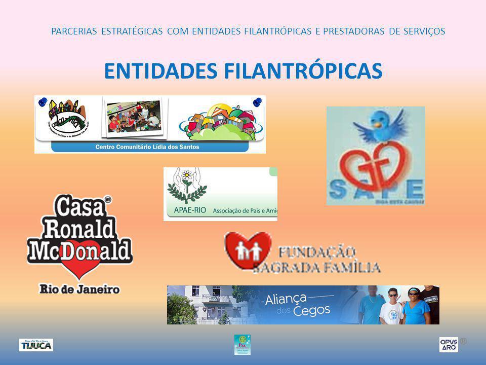 PARCERIAS ESTRATÉGICAS COM ENTIDADES FILANTRÓPICAS E PRESTADORAS DE SERVIÇOS ® ENTIDADES FILANTRÓPICAS