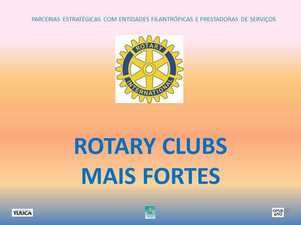 PARCERIAS ESTRATÉGICAS COM ENTIDADES FILANTRÓPICAS E PRESTADORAS DE SERVIÇOS ® ROTARY CLUBS MAIS FORTES