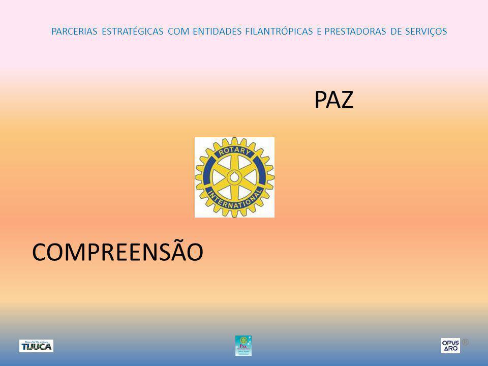 PARCERIAS ESTRATÉGICAS COM ENTIDADES FILANTRÓPICAS E PRESTADORAS DE SERVIÇOS ® PAZ COMPREENSÃO