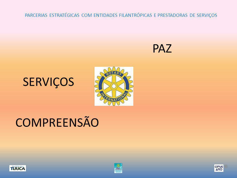 PARCERIAS ESTRATÉGICAS COM ENTIDADES FILANTRÓPICAS E PRESTADORAS DE SERVIÇOS ® PAZ COMPREENSÃO SERVIÇOS