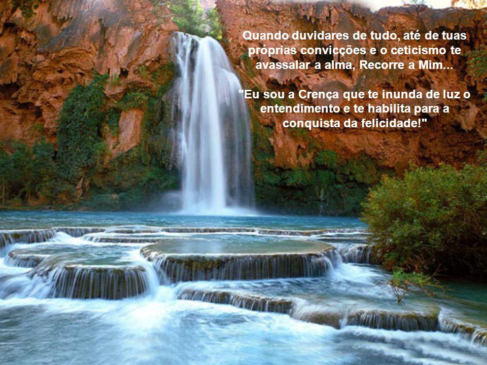 Quando duvidares de tudo, até de tuas próprias convicções e o ceticismo te avassalar a alma, Recorre a Mim...