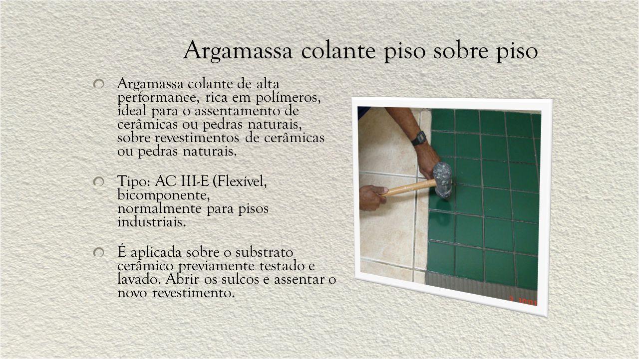 Argamassa estrutural Argamassa polimérica, indicada para recuperação de estruturas de concreto.