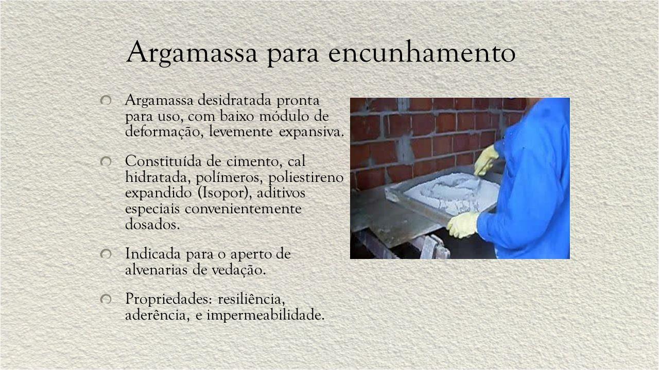 Argamassa de proteção radiológica Argamassa de proteção radiológica, à base de barita (BaSO 4), cimento Portland comum e aditivos especiais.