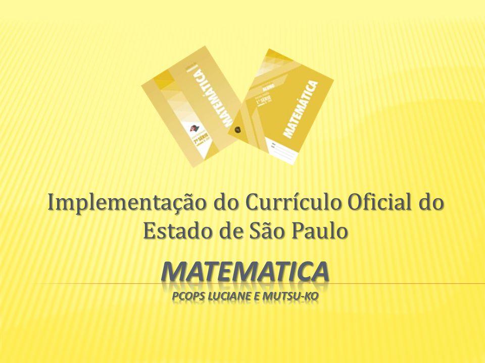 Implementação do Currículo Oficial do Estado de São Paulo