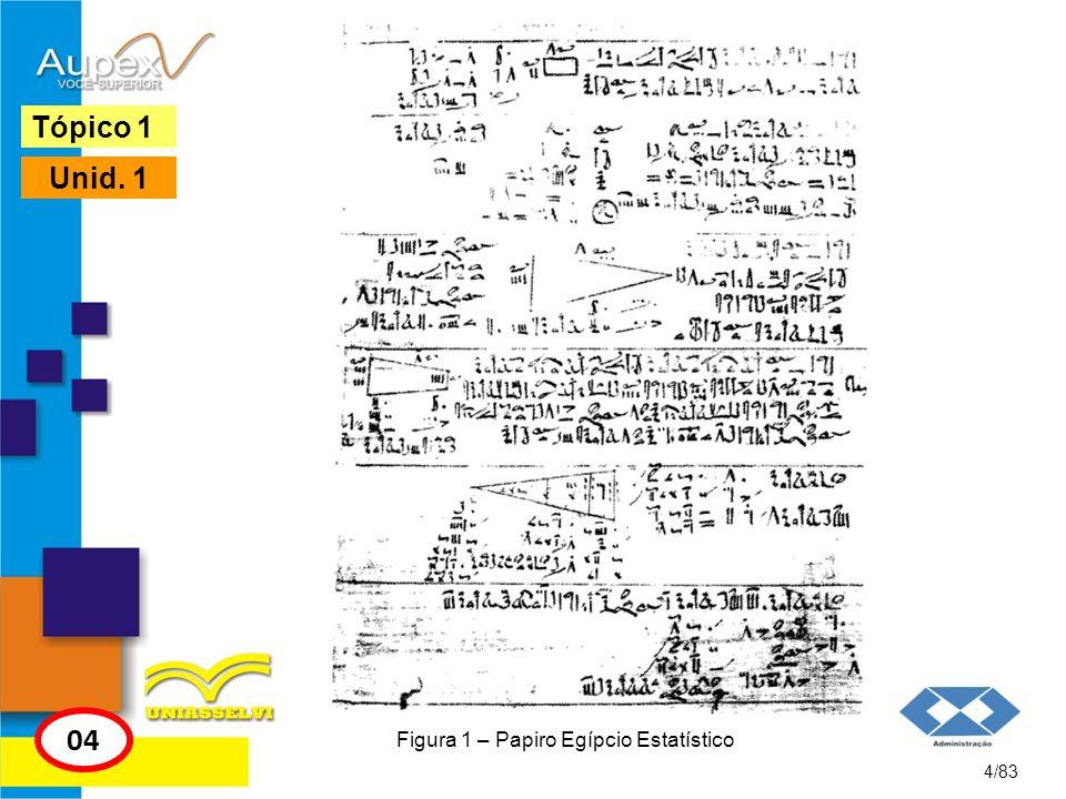 Figura 1 – Papiro Egípcio Estatístico 4/83 Tópico 1 04 Unid. 1