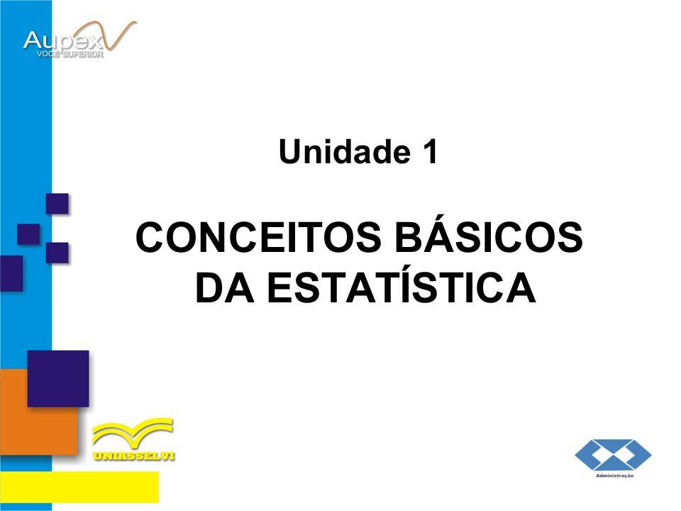 Unidade 1 CONCEITOS BÁSICOS DA ESTATÍSTICA