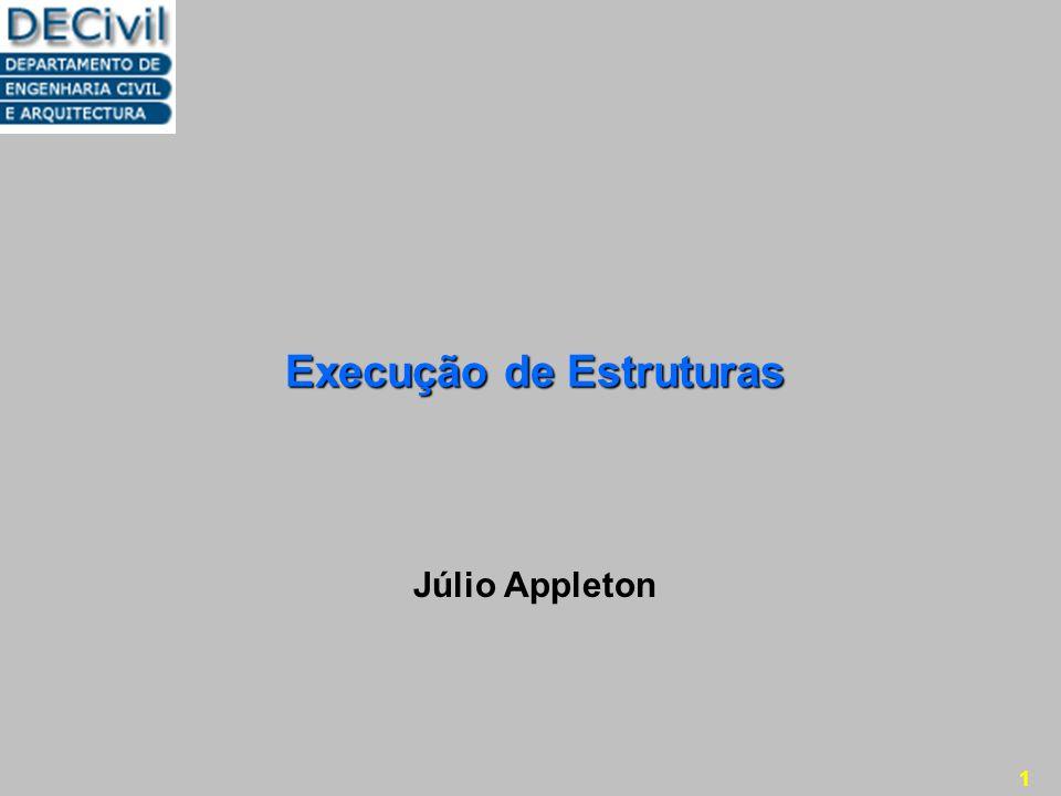 1 Execução de Estruturas Júlio Appleton