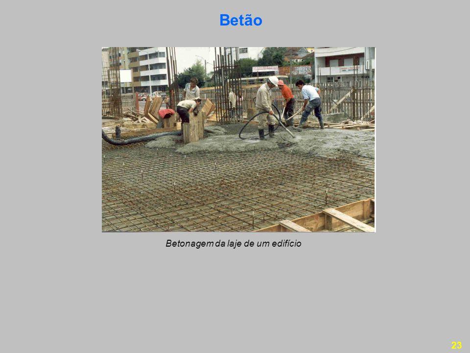 23 Betão Betonagem da laje de um edifício