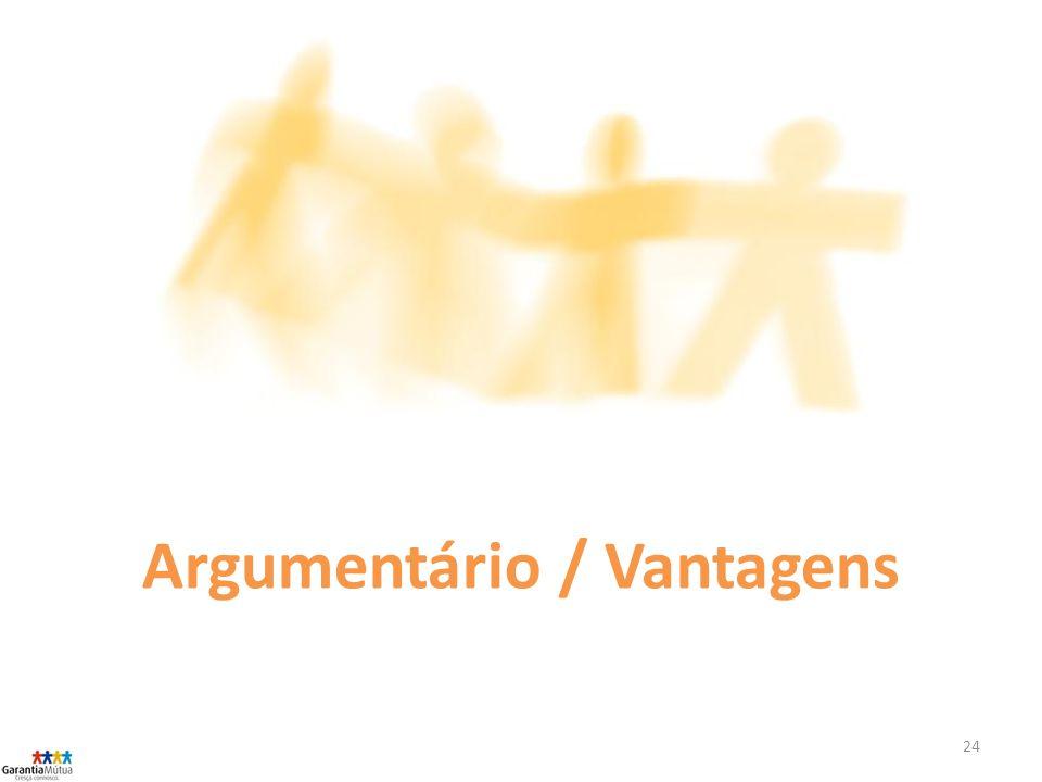 24 Argumentário / Vantagens