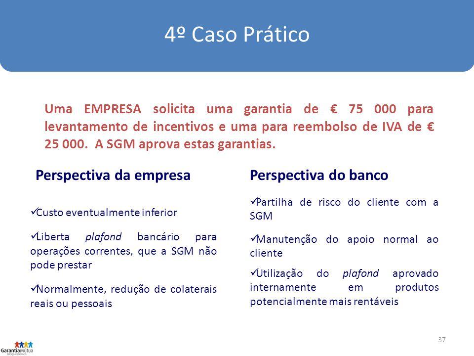 37 Uma EMPRESA solicita uma garantia de 75 000 para levantamento de incentivos e uma para reembolso de IVA de 25 000.