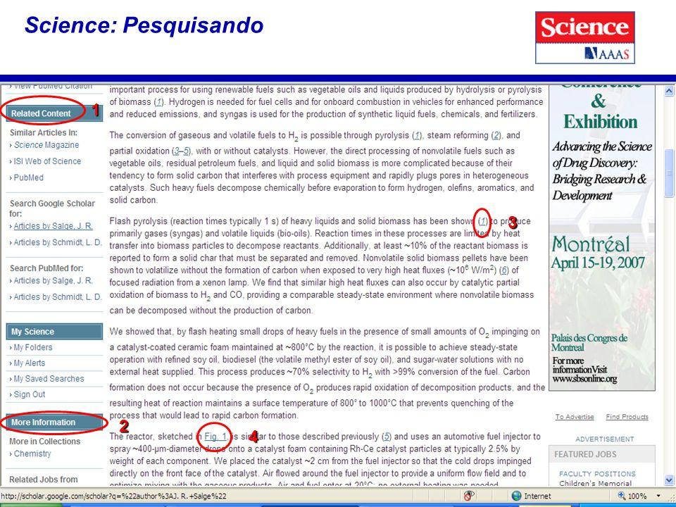 16 Science: Pesquisando 1 2 3 4