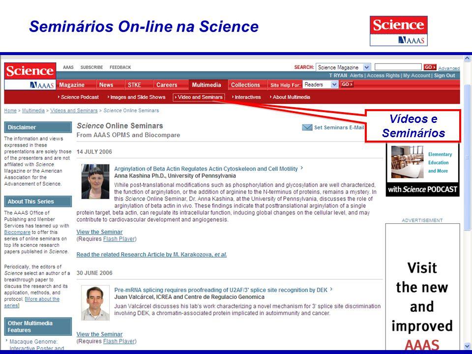 39 Seminários On-line na Science Vídeos e Seminários