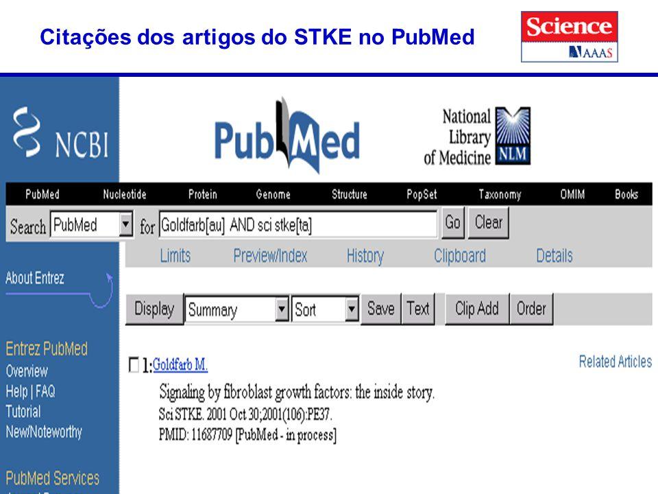 49 Citações dos artigos do STKE no PubMed