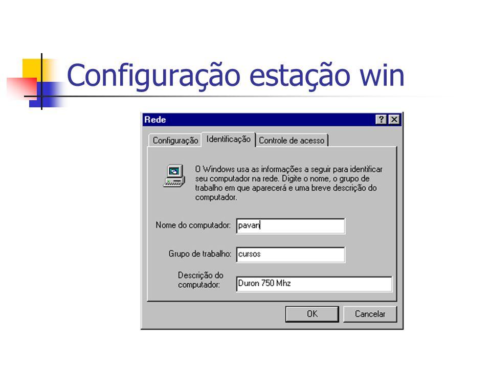 Configuração estação win